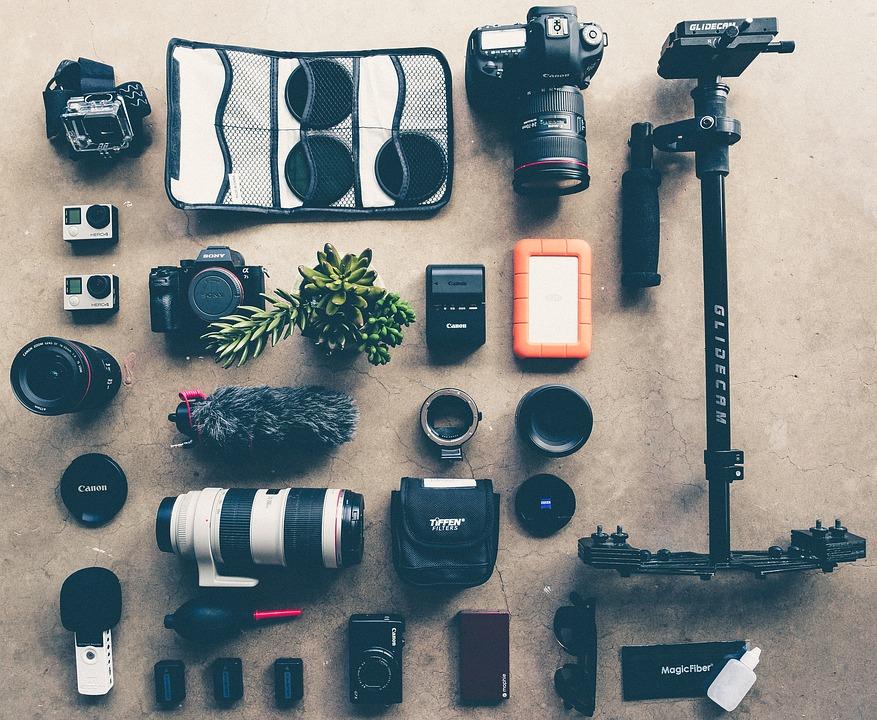 Verschillende accessoires die gebruikt kunnen worden voor je camera.