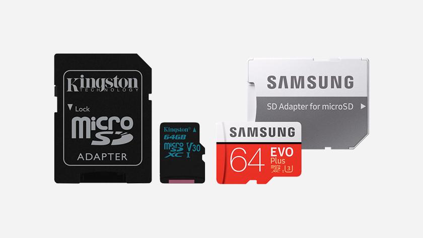 micro SD kaarten van verschillende merken.
